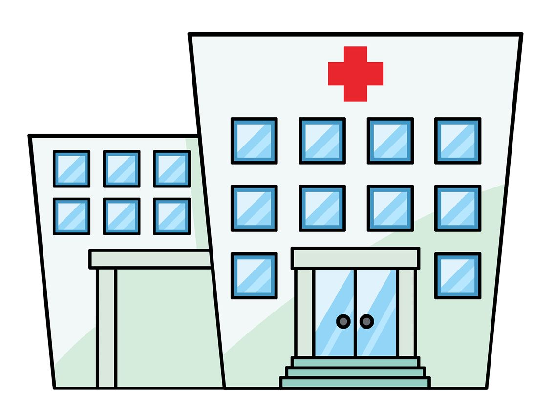Clipart hospital drawing. Collection of free download