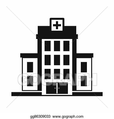 Stock illustration icon simple. Clipart hospital drawing