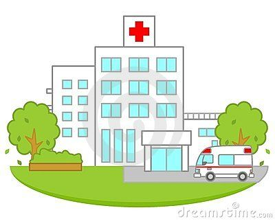 Clipart hospital drawing. Cartoon clip art www