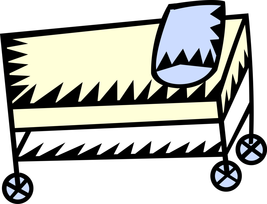 Hospital stretcher vector image. Patient clipart gurney