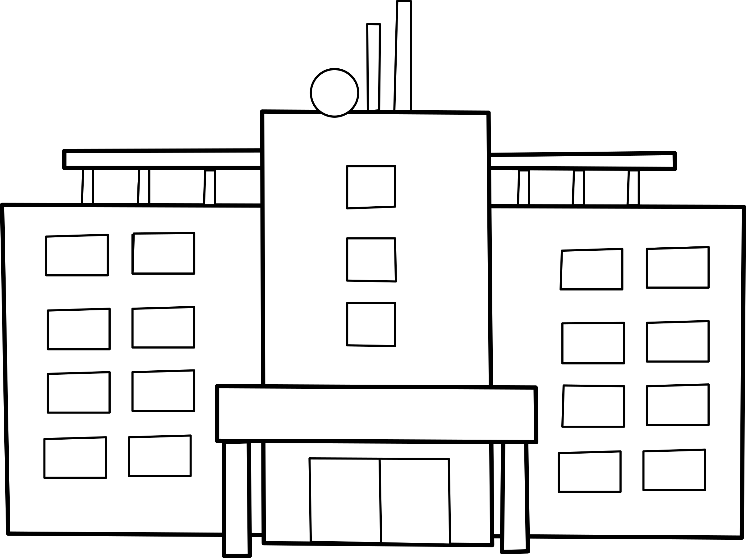 Hopital big image png. Hospital clipart black and white