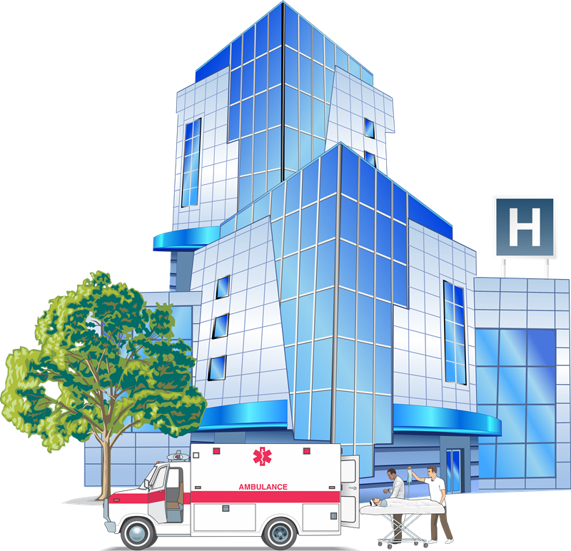 Hospital clipart bored. Free group with items
