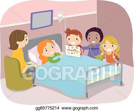 Hospital clipart hospital visit. Vector stock stickman kids