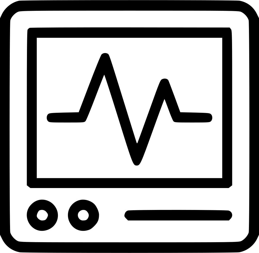 Heart monitor pulse cacrdiology. Line clipart heartbeat