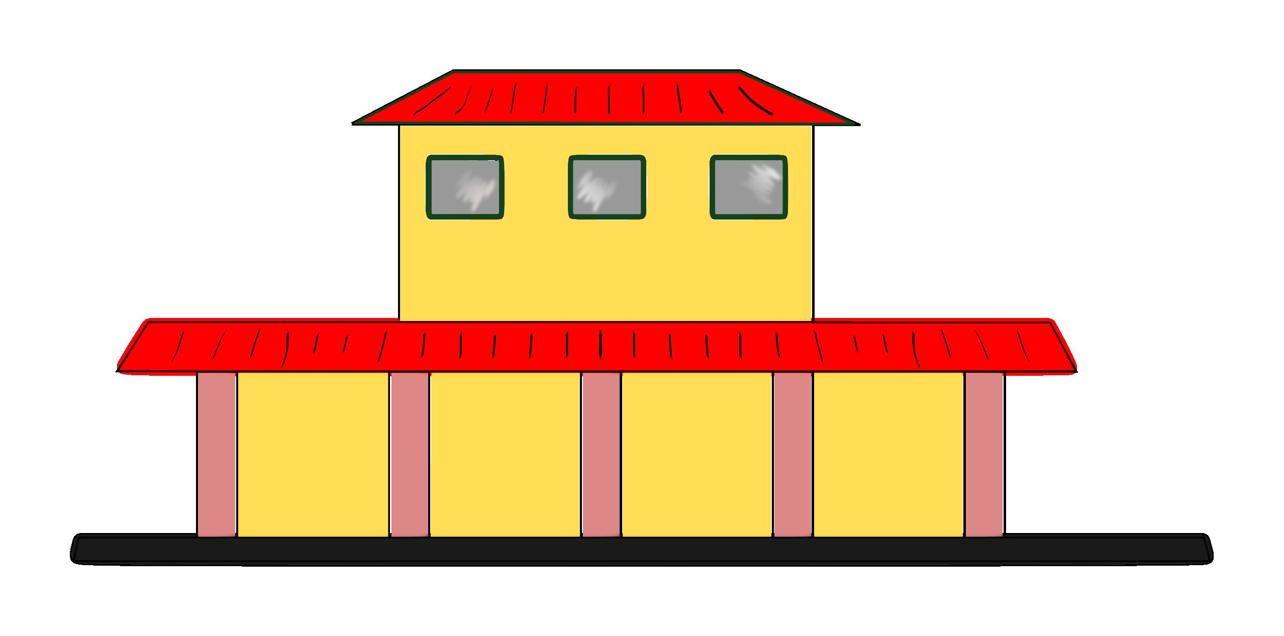 Hospital clipart facade. Station clip art panda