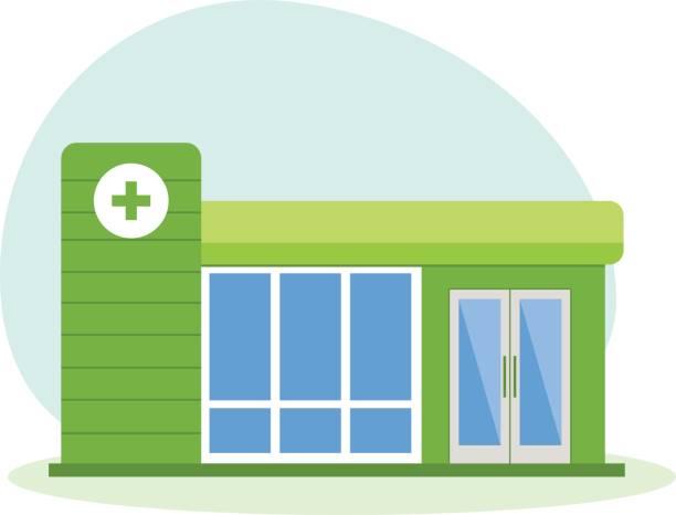 Hospital clipart medical facility. Modern building healthcare system