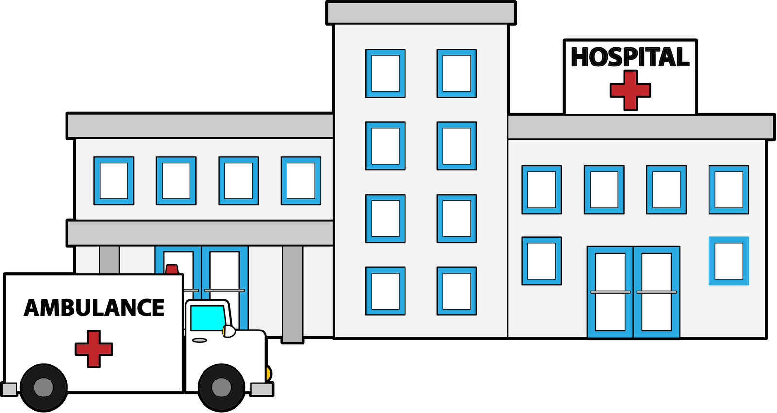 Tailgating inside. Patient clipart hospital admission