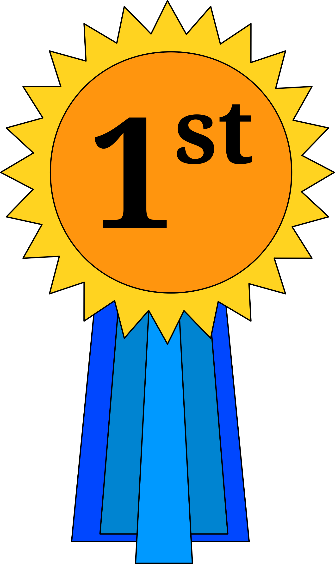 st place ribbon. Learning clipart award