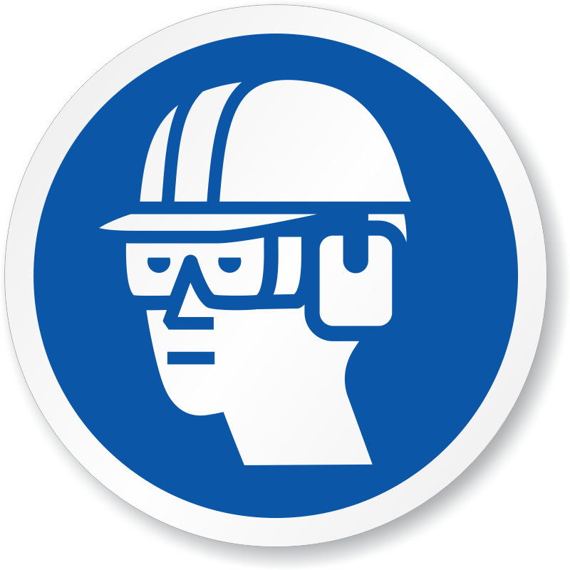 Medical clipart ppe. Eye and ear protection