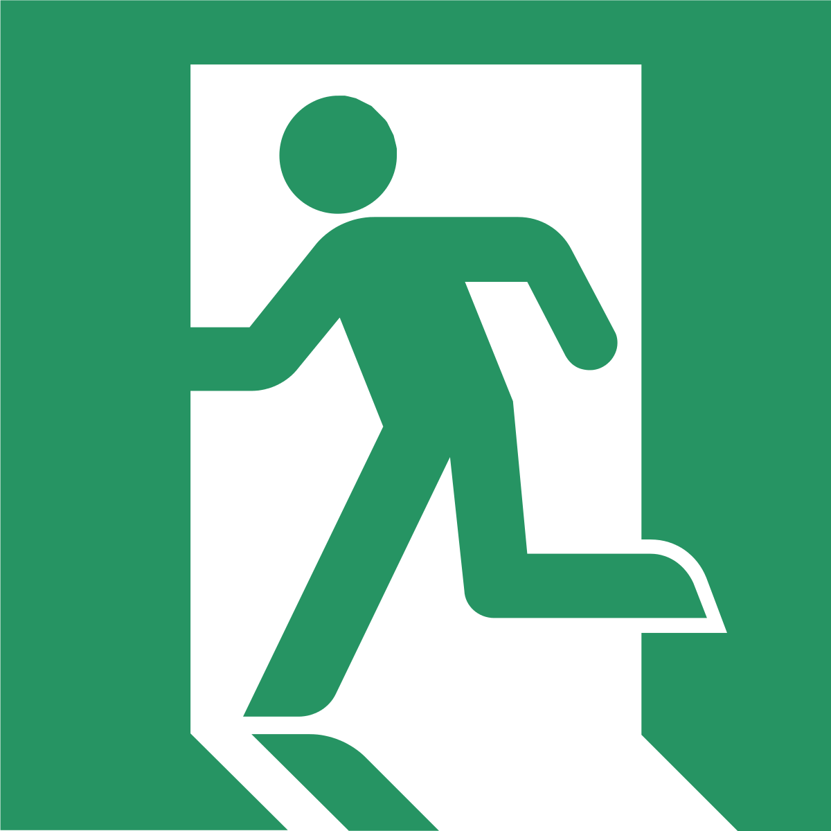 Exit sign wikipedia . Emergency clipart emergency service