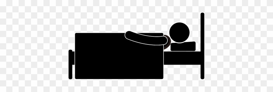 Sleeping bed in . Clipart hospital silhouette