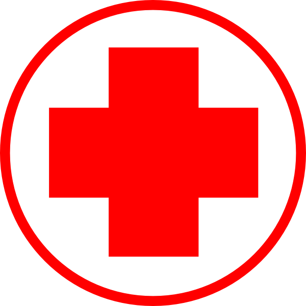 Red simple clip art. Hospital clipart money