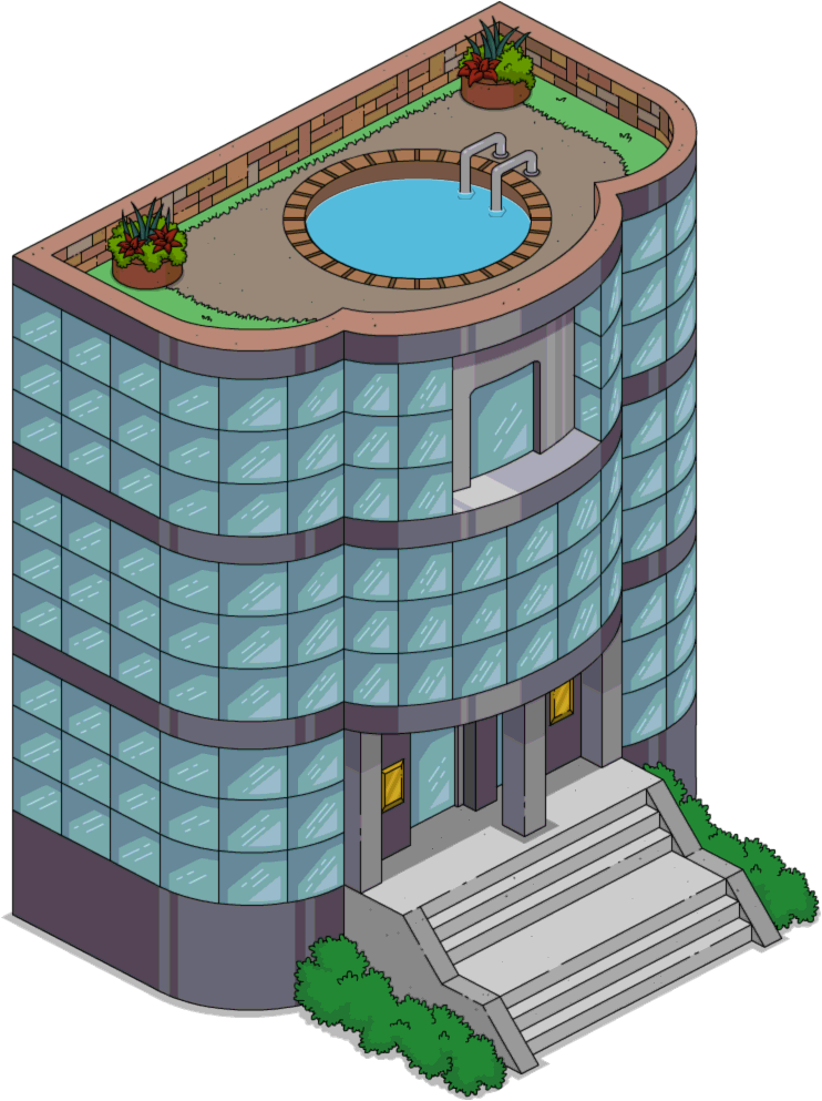 Restaurants clipart grocery store building. Ziffcorp office the simpsons