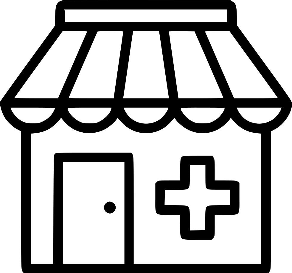 Clinic hospital drug store. Pharmacy clipart beaker