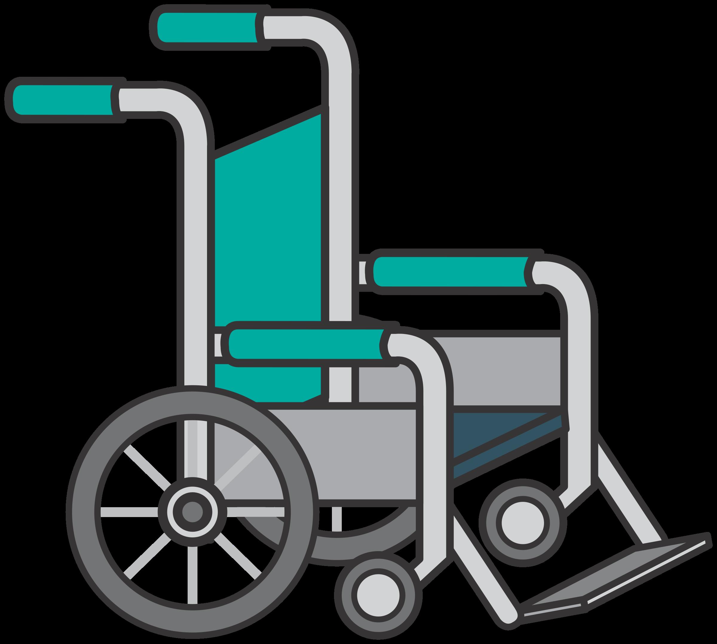 . Wheel clipart wheelchair