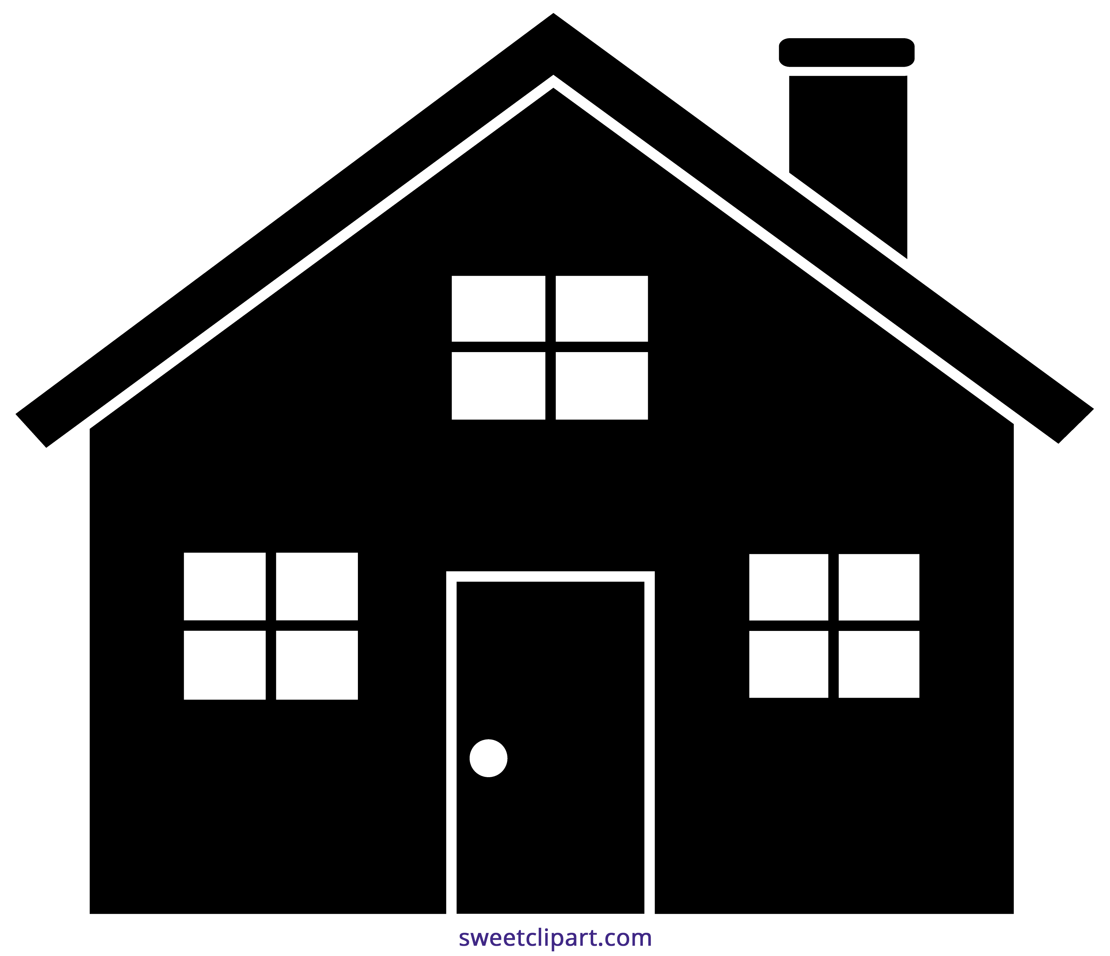 House black silhouette clip. Clipart home home sweet home
