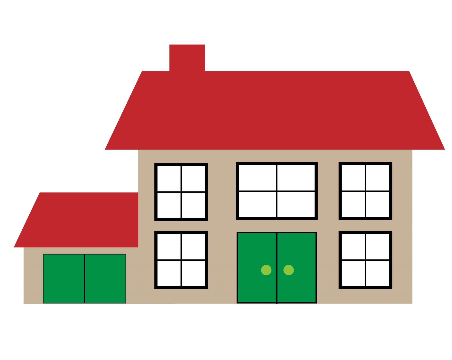 Houses clipart. House illustration free stock
