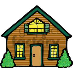 C royalty free . Neighborhood clipart colored house