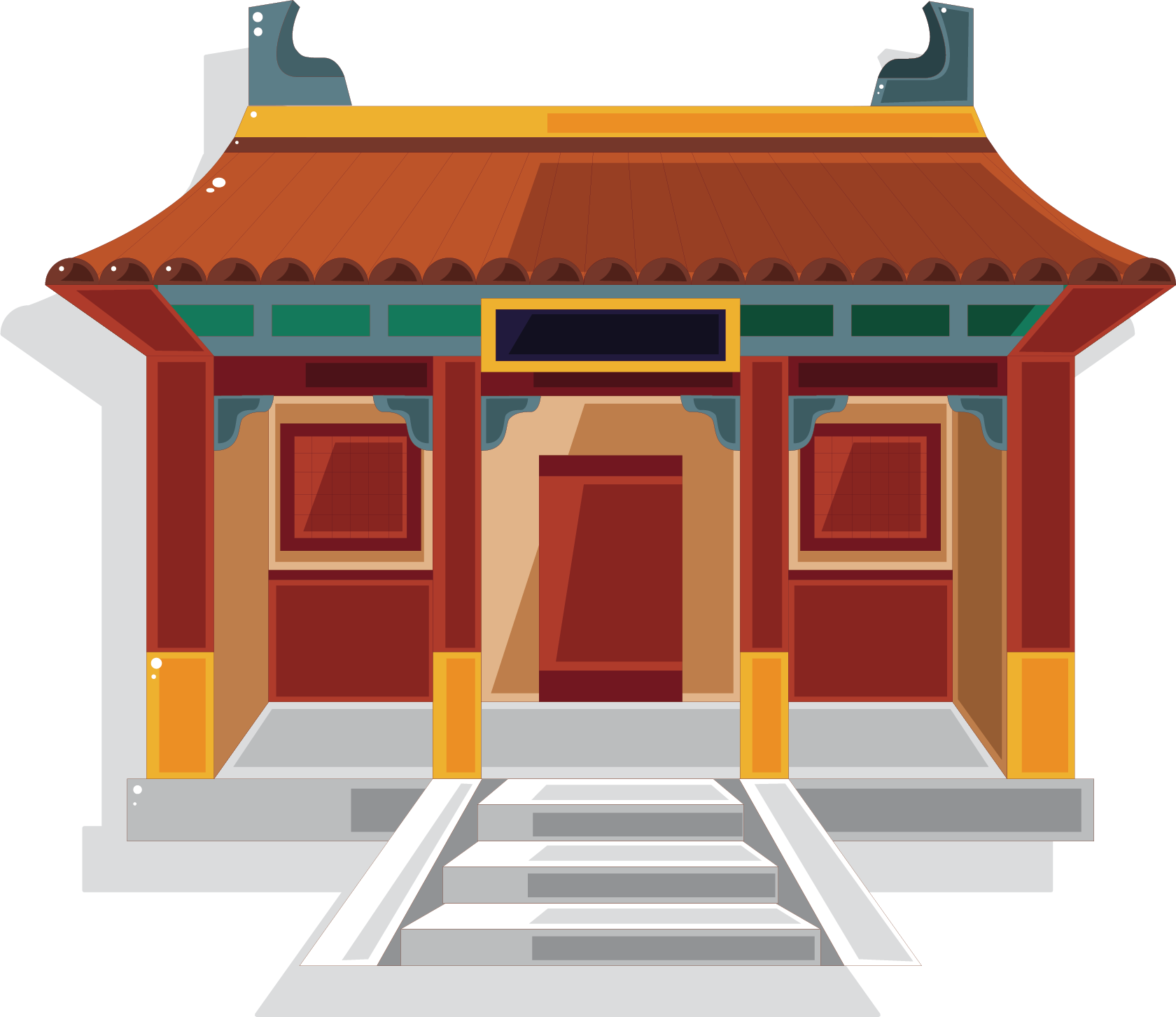 Palace clipart castle roof. Chinese temple pagoda clip