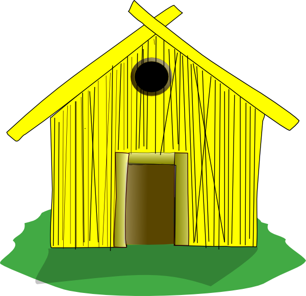 hay clipart yellow