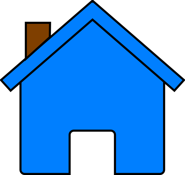 Blue clip art at. Clipart house animation