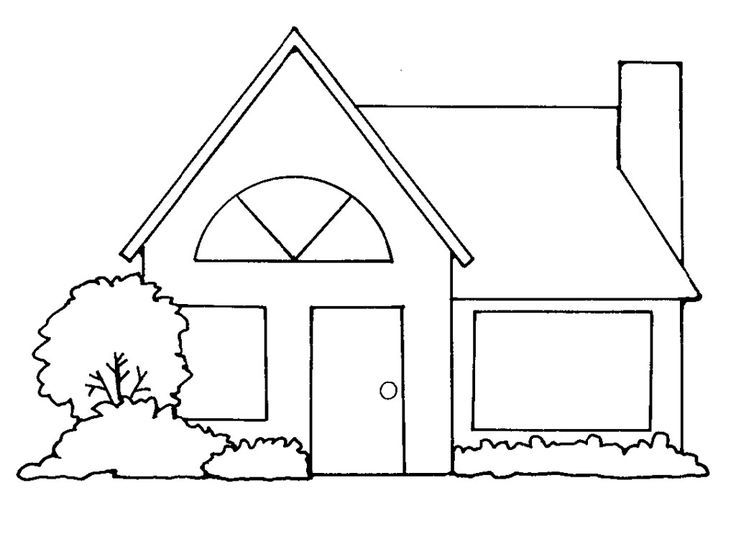 House black and white. Lds clipart home