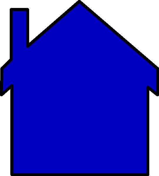 clipart house blue