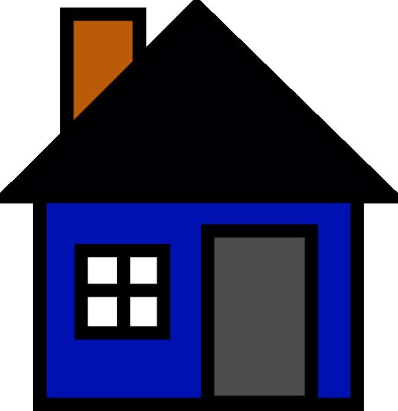 Clipart houses borders. Blue house clip art