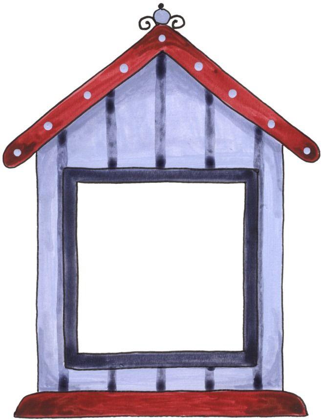 Clipart houses borders. Birdhouse frames corners clip