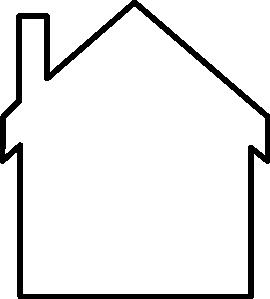 House silhouette clip art. Clipart houses borders