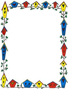 Free birdhouse border cliparts. Clipart houses borders