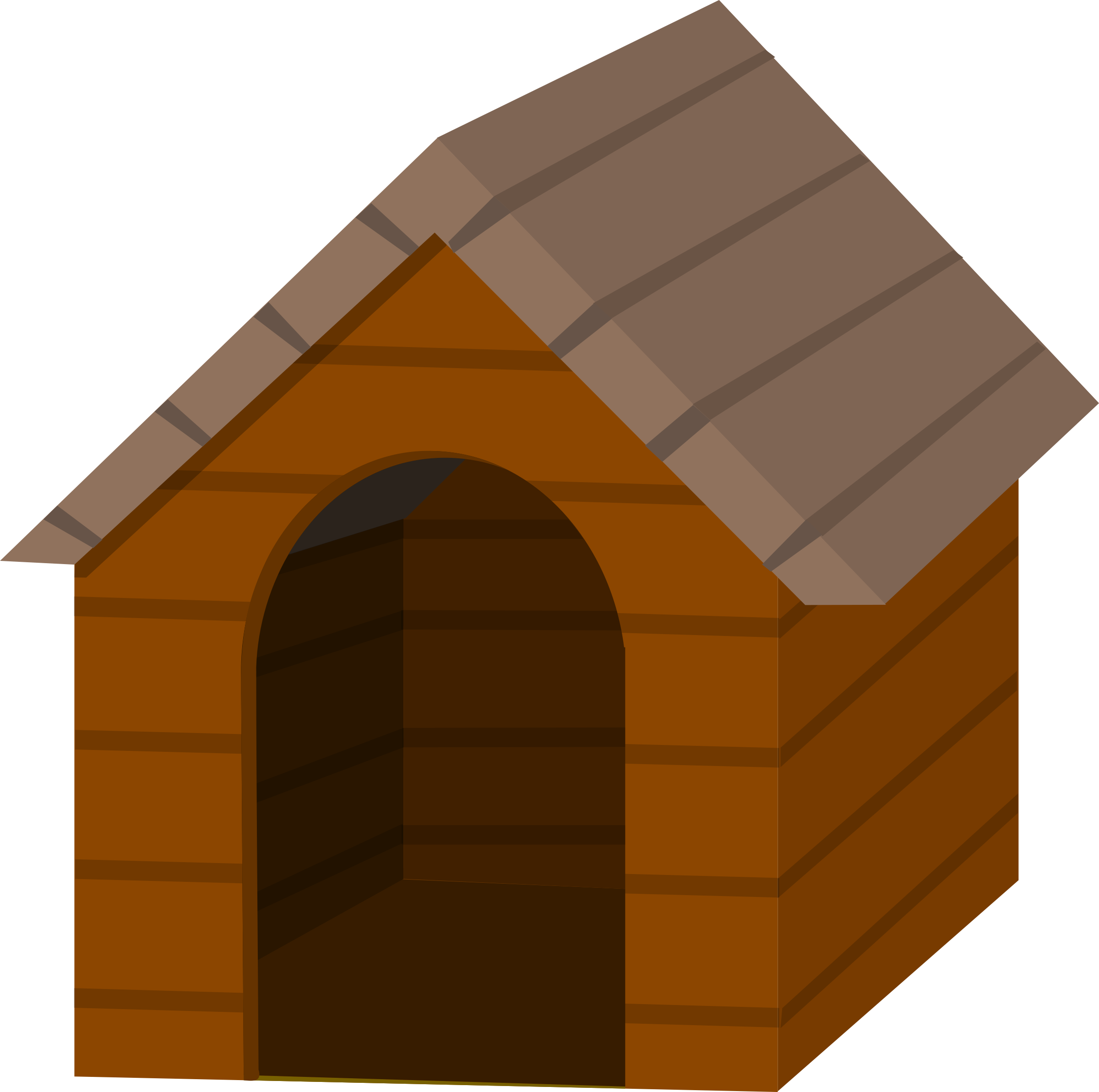 Clipart house brown. Doghouse big image png