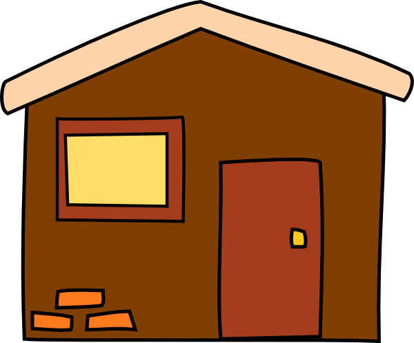 Free house cliparts download. Houses clipart brown