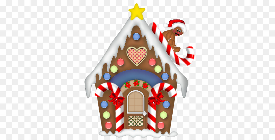 Christmas food . Clipart house candy cane