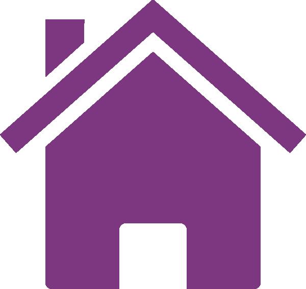 Purple house clip art. Organized clipart organized home