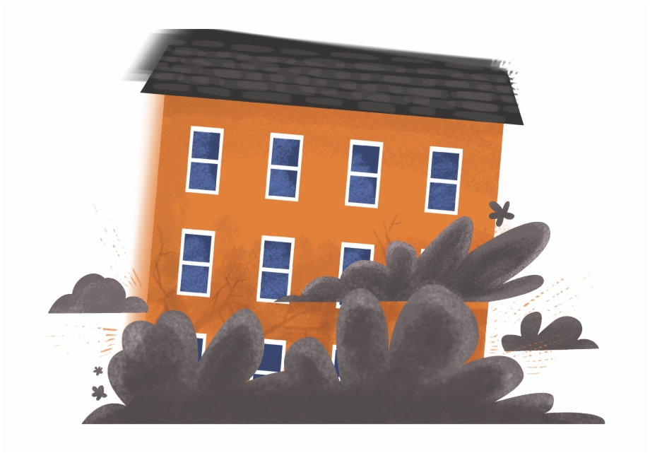 Clipart houses collapse. House building