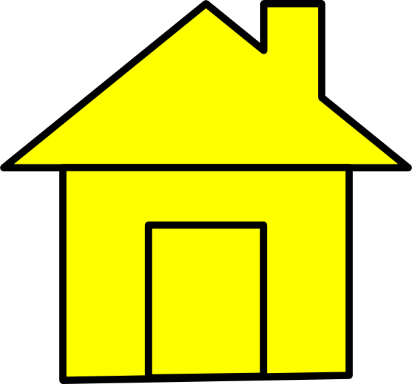 Houses clipart yellow. Yello cute house clip