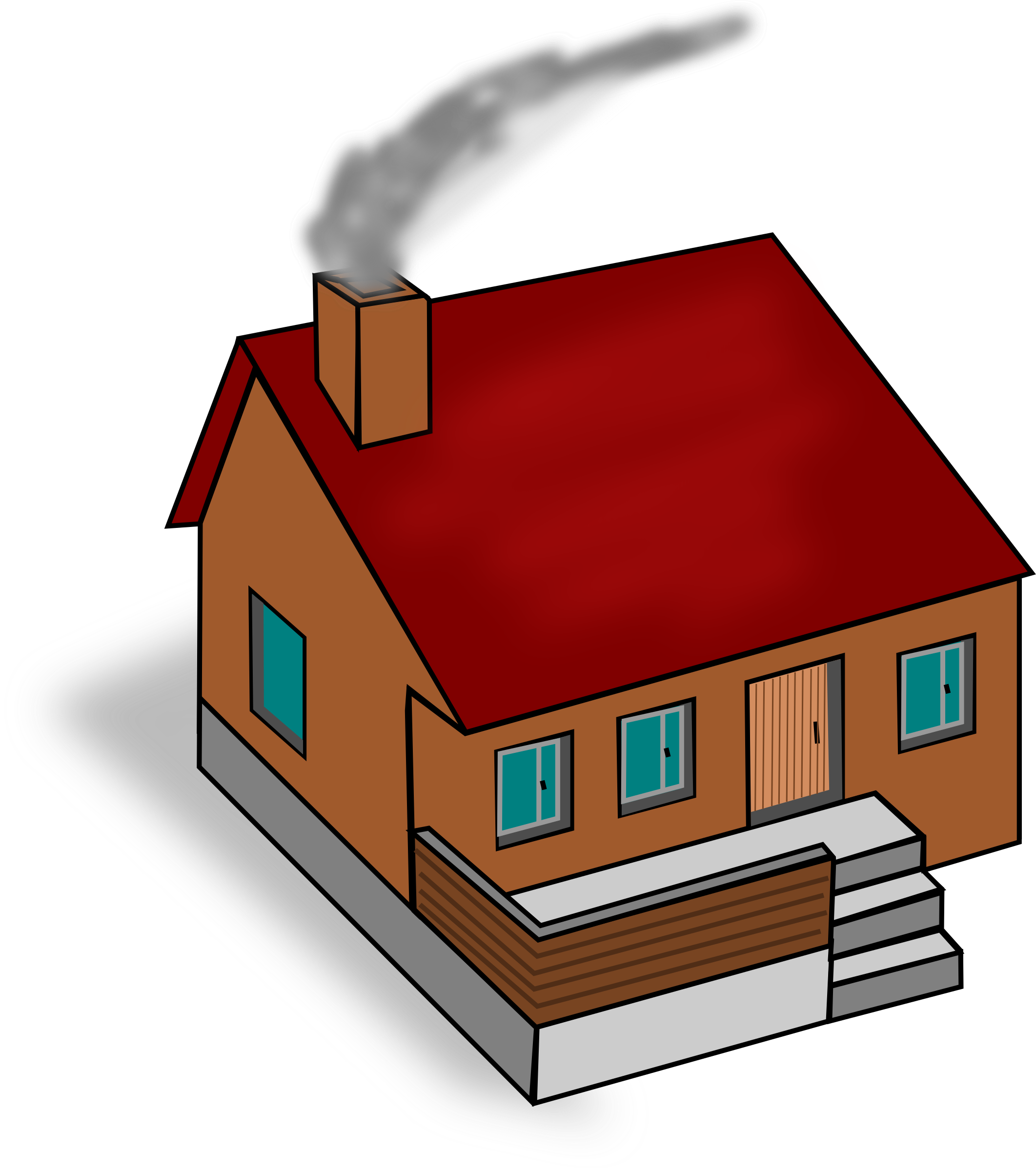 . House clipart diagram