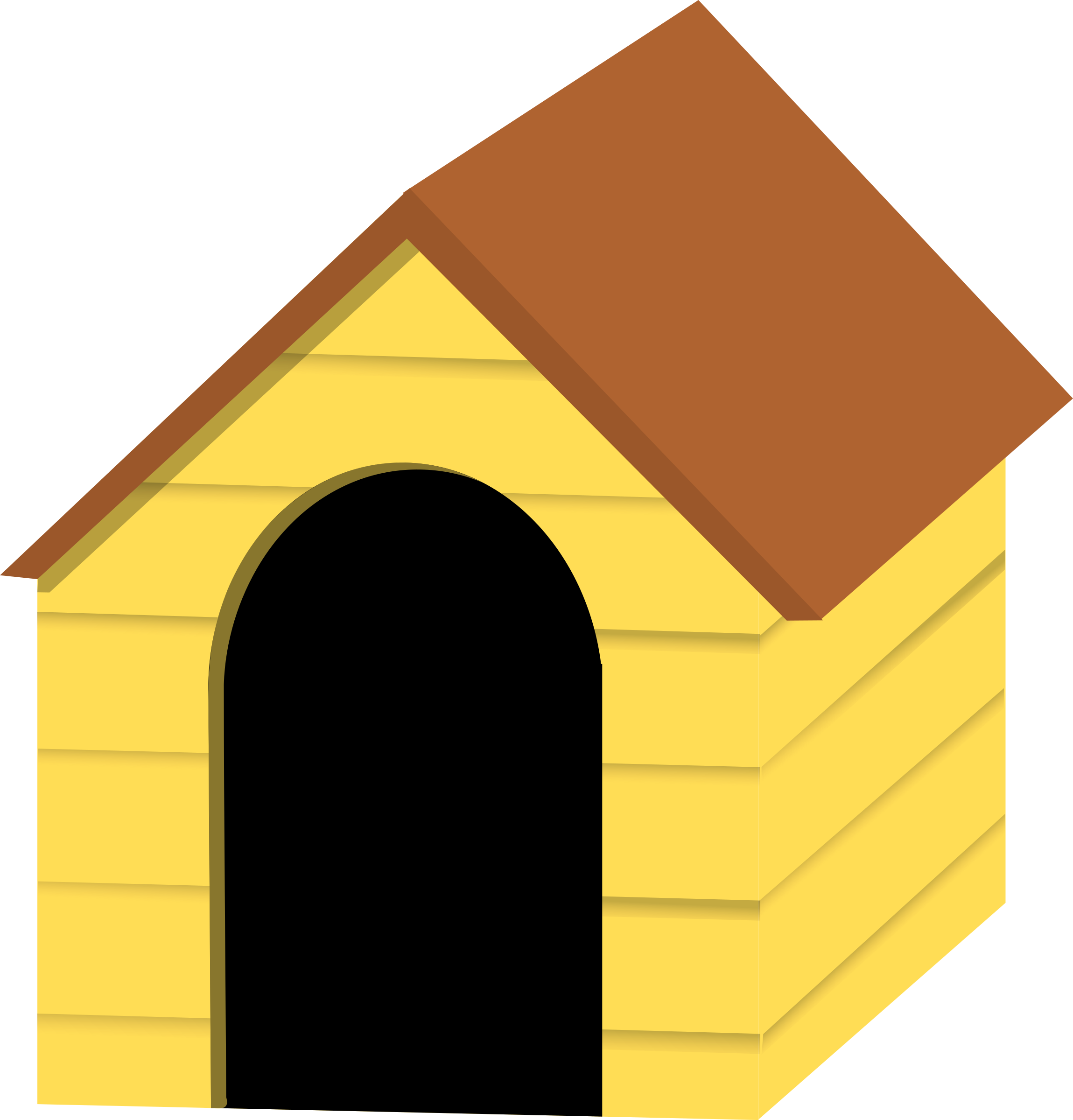 collection of dog. Clipart puppy house