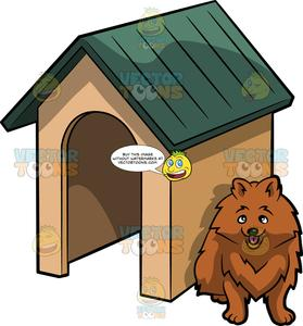 Doghouse clipart dog thing. A cute beside house