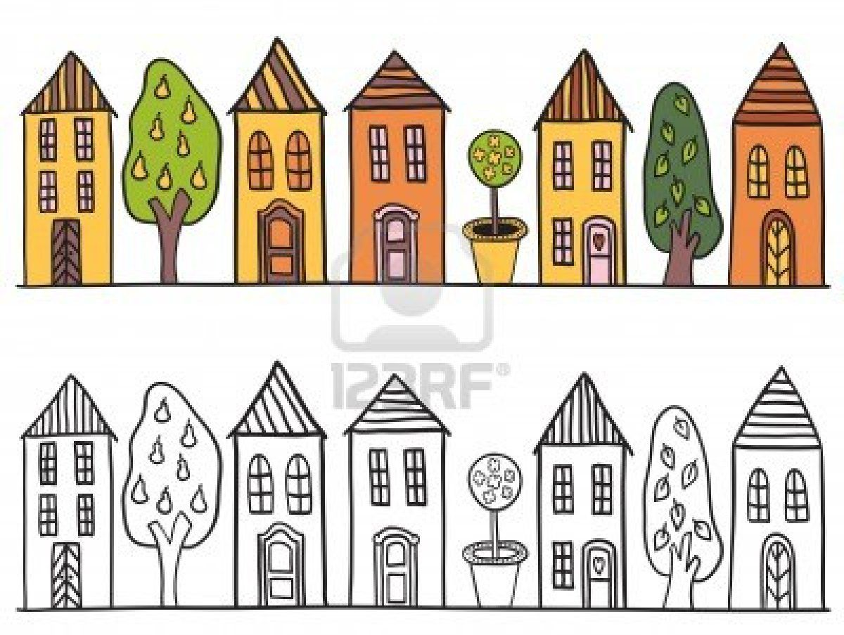 Stock vector illustration inspiration. House clipart doodle