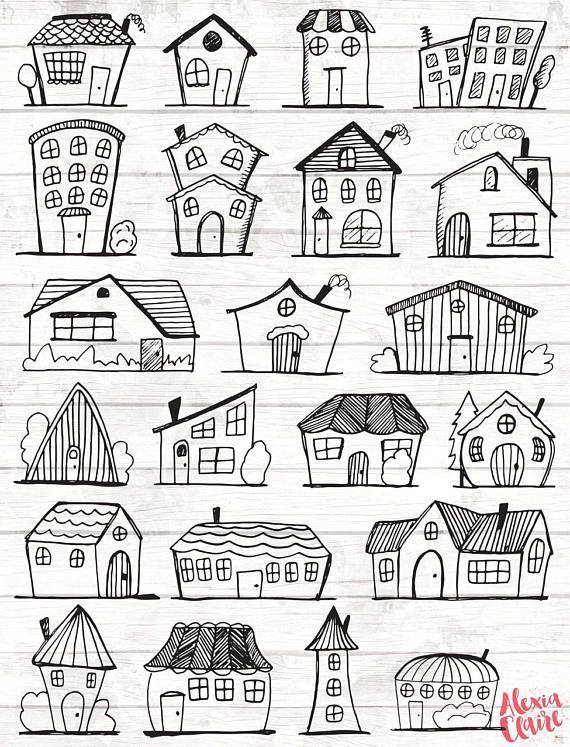 Vector art home . House clipart doodle