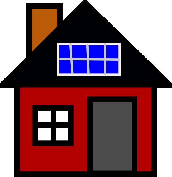 Politics clipart panel. House with solar clip