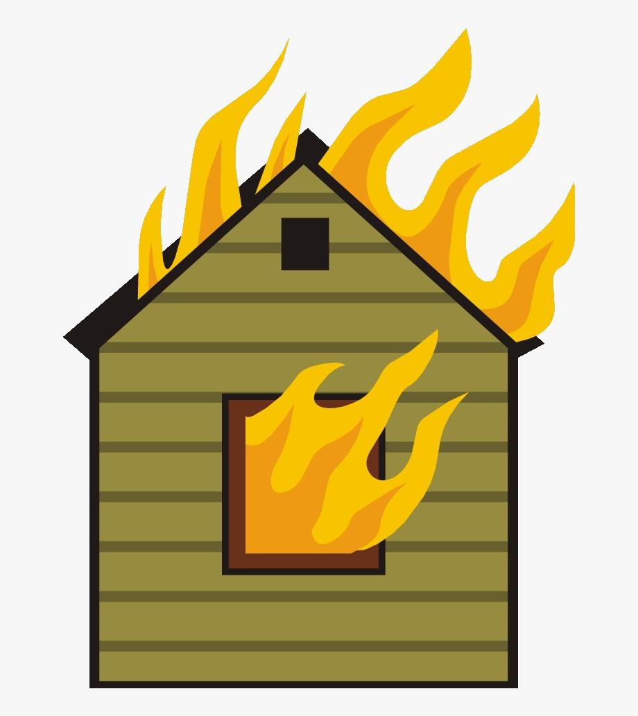 Houses clipart fire. House collection station on