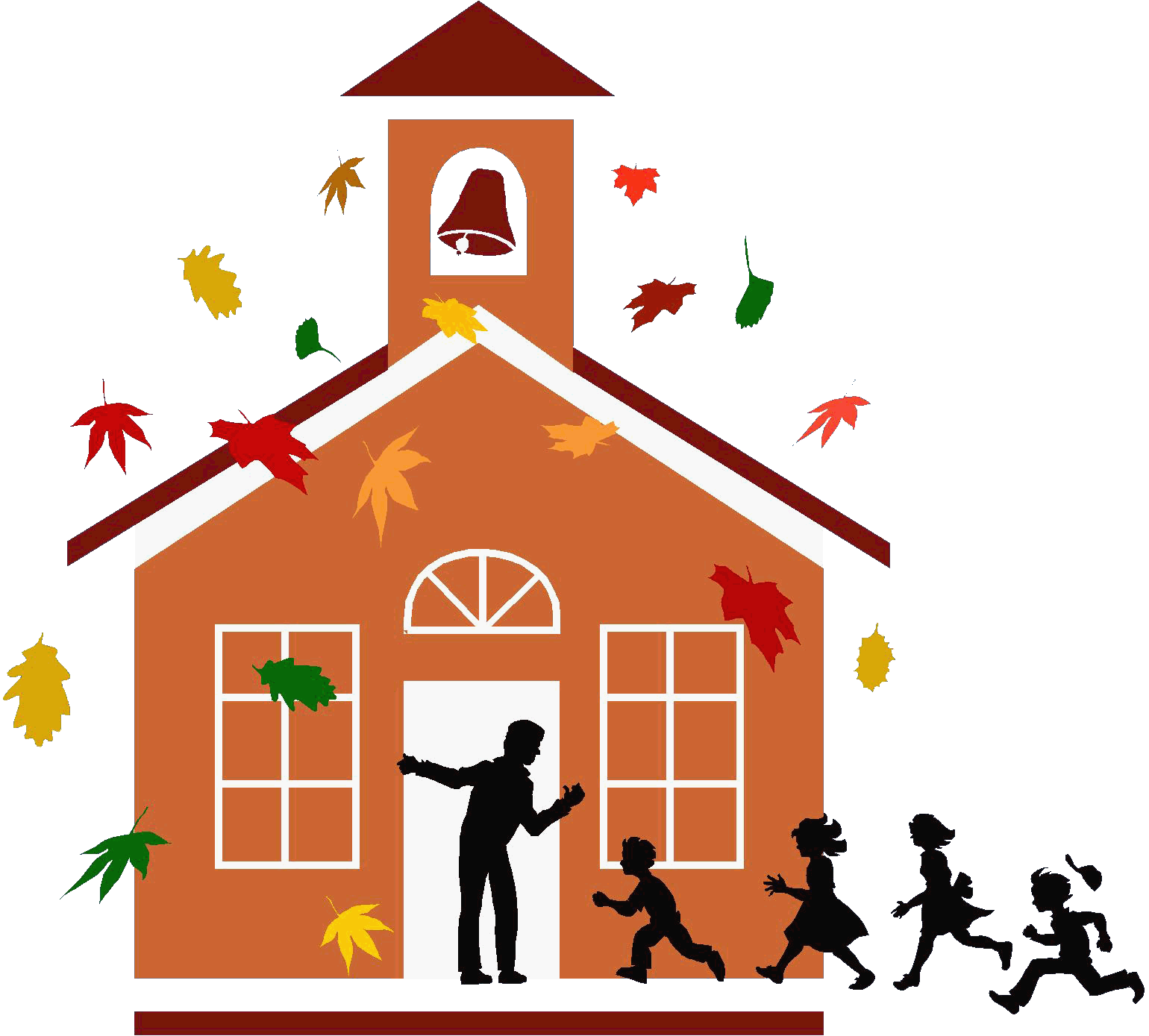 Clipart fall school. House day care