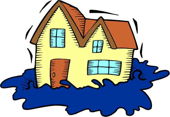 Cartoon tree graphics transparent. House clipart flooding