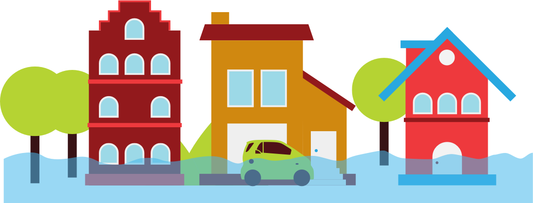 Flood free download best. House clipart flooding