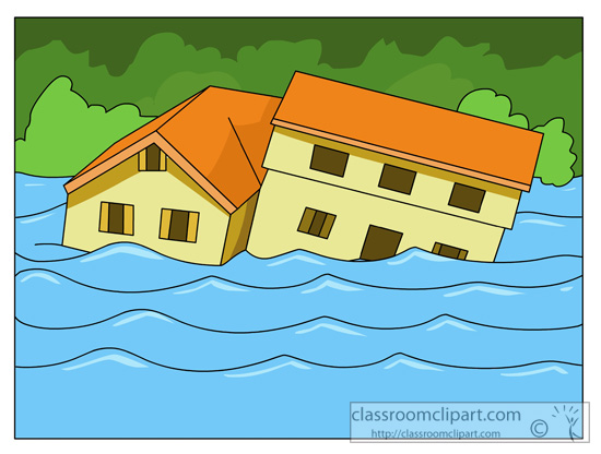Station . House clipart flooding