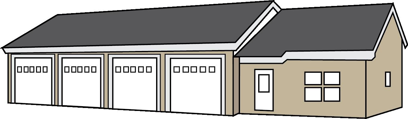 Clipart house garage. Plans red umbrella contractors