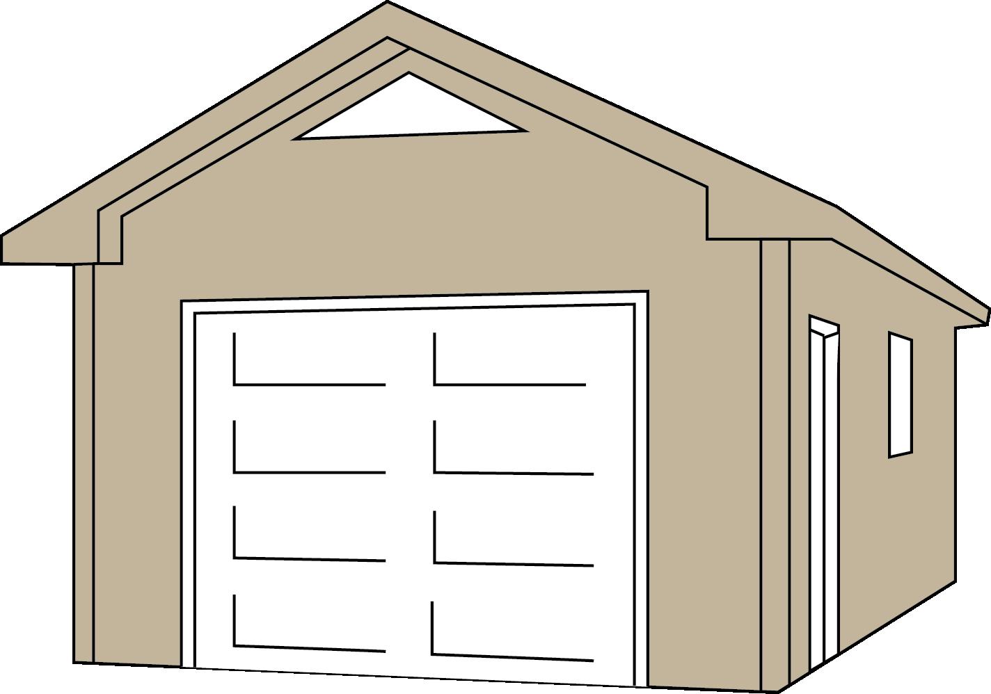 Plans red umbrella contractors. Clipart house garage